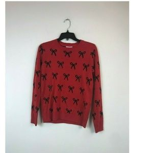 Sweaters - Charter Club Petite PP Ravishing Red Bow SWT 9BK12